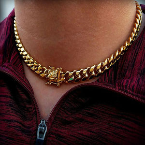 "Stainless Steel 18"" Luxury Cuban Link 12mm Chain"